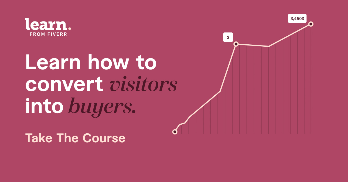 Fiverr, learn how to convert visitors into buyers