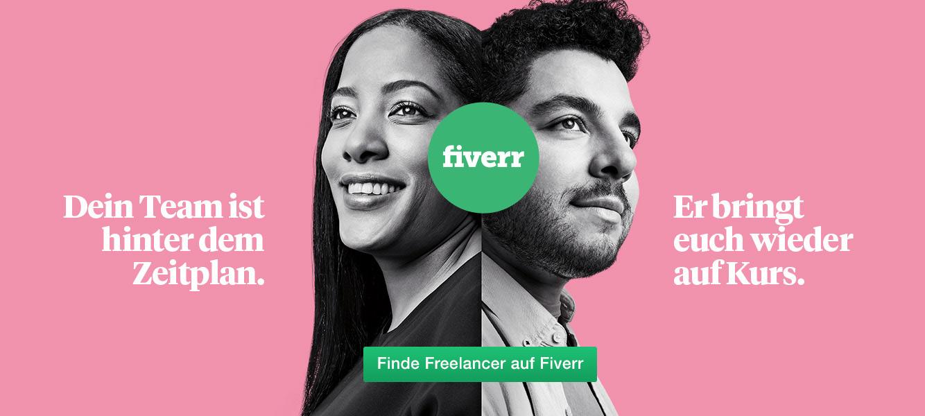 Fiverr Anmeldung, Mann und Frau, Fiverr Deutschland